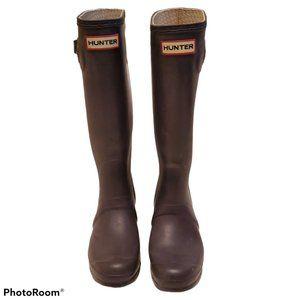 Hunter Womens Original Tall Burgundy Rain Boots